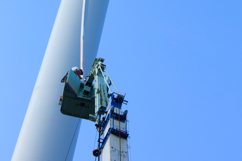 風車オイル交換作業